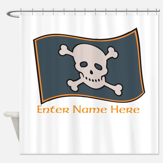 Personalized Pirate Flag Shower Curtain