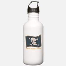 Personalized Pirate Flag Water Bottle