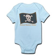 Personalized Pirate Flag Infant Bodysuit