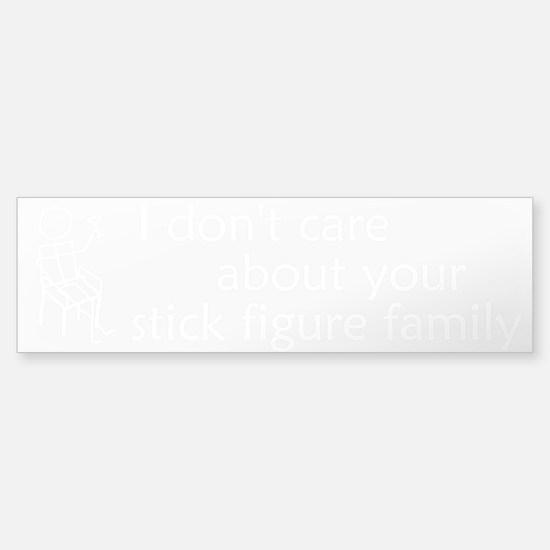Stick Figure Family Sticker (Bumper) - Clear
