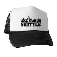 Seattle Skyline Trucker Hat