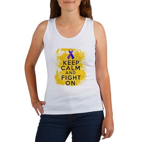 Bladder Cancer Keep Calm Fight On Women's Tank Top