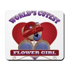 World's Cutest Flower Girl Teddy Bear Mousepad