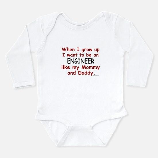 Cute Civil engineer Long Sleeve Infant Bodysuit