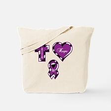 Zebra Faith Hope Cure CF Tote Bag