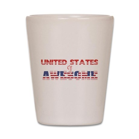 US of Awesome Shot Glass