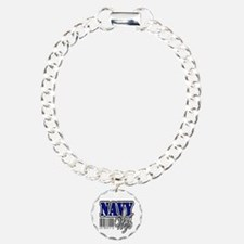 Navy Wife, Blue with barcode Bracelet
