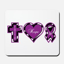 Zebra Faith Hope Cure CF Mousepad