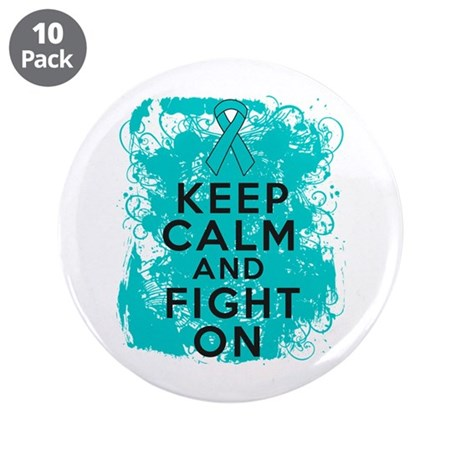 "Interstitial Cystitis Keep Calm Fight On 3.5"" Butt"