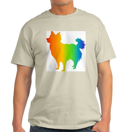Chihuahua Longhair Ash Grey T-Shirt