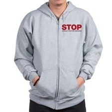 Stop While You're Behind Zip Hoodie