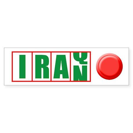 IRAQ TO IRAN Bumper Sticker