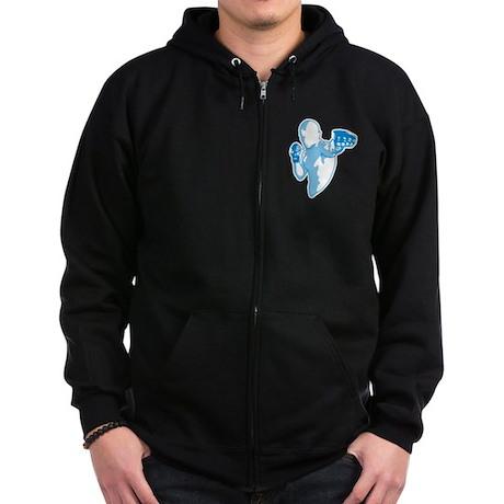 Punch (blue) Zip Hoodie (dark)