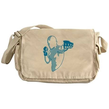 Punch (blue) Messenger Bag