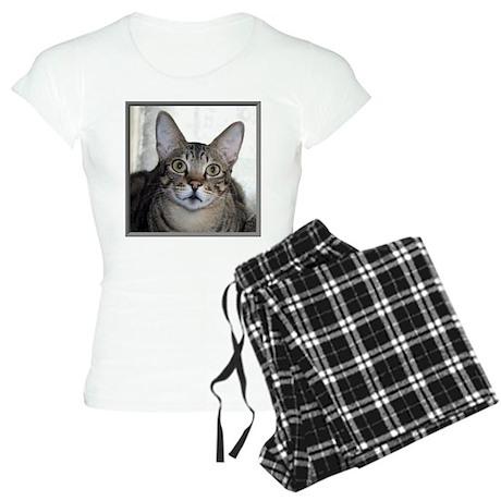 Savannah Cat Portrait Women's Light Pajamas