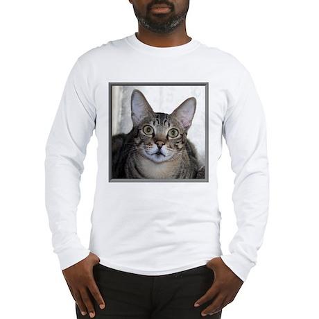 Savannah Cat Portrait Long Sleeve T-Shirt