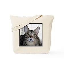 Savannah Cat Portrait with frame Tote Bag