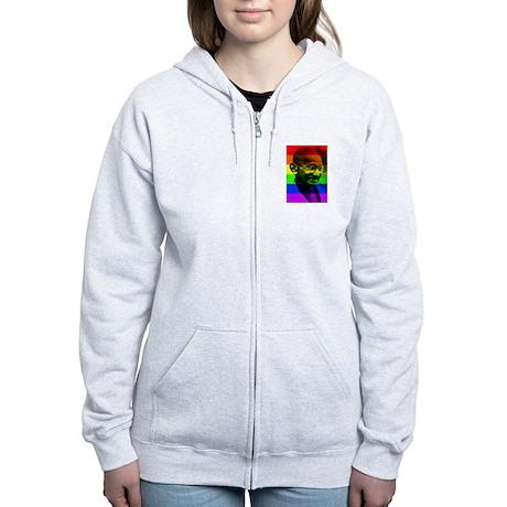 Rainbow Gandhi 2 Women's Zip Hoodie