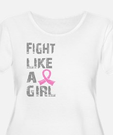 - Breast Cancer Fight Like a Girl Plus Size T-Shir