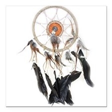 "Dreamcatcher 2 Square Car Magnet 3"" x 3"""