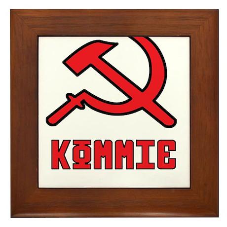 Kommie Hammer & Sickle Framed Tile