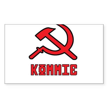 Kommie Hammer & Sickle Sticker (Rectangle)