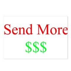 Send More Money Postcards (Package of 8)