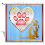My Heart Belongs To Kitty Shower Curtain