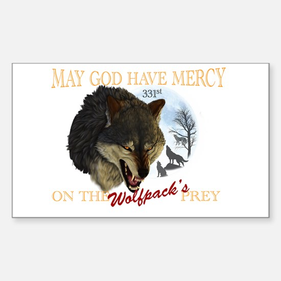 331st wolfpack Sticker (Rectangle)