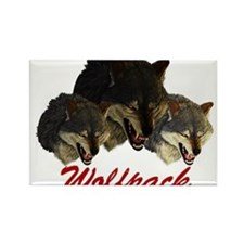 Wolfpack Front Rectangle Magnet