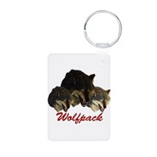 Wolfpack Front Keychains