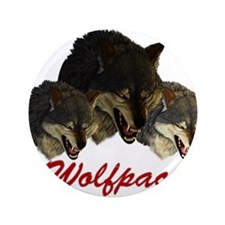 """Wolfpack Front 3.5"""" Button"""