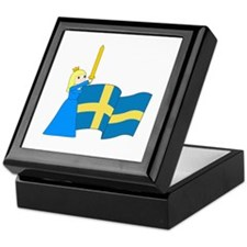 Unique Sweden Keepsake Box