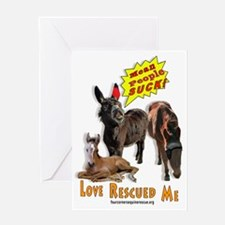 Funny Equine rescue Greeting Card