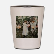 Sargent Carnation, Lily, Lily, Rose Shot Glass