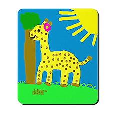 HI54ECO Giselle Giraffe Girl Mousepad