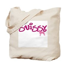 """Greater Swiss """"Pink"""" Tote Bag"""