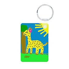 HI54ECO Giselle Giraffe Girl Keychains