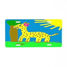 HI54ECO Giselle Giraffe Girl Aluminum License Plat