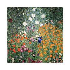 Gustav Klimt Flower Garden Queen Duvet