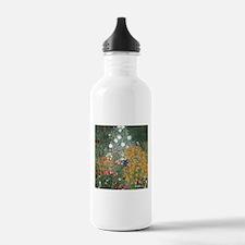 Gustav Klimt Flower Garden Water Bottle