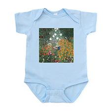 Gustav Klimt Flower Garden Infant Bodysuit