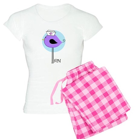 RN Bird Purple.PNG Women's Light Pajamas