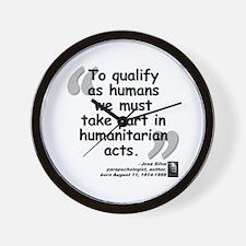 Silva Human Quote Wall Clock