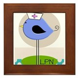 Lpn nurse graduate Framed Tiles