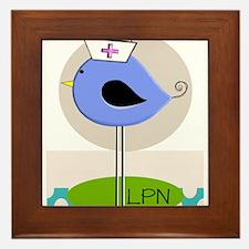 LPN bird purple.PNG Framed Tile
