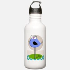LPN bird purple.PNG Water Bottle
