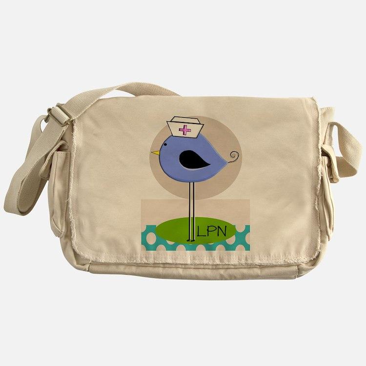 LPN bird purple.PNG Messenger Bag
