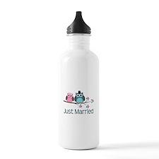 Just Married Birds Sports Water Bottle