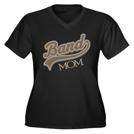 Band Mom Gift Women's Plus Size V-Neck Dark T-Shir